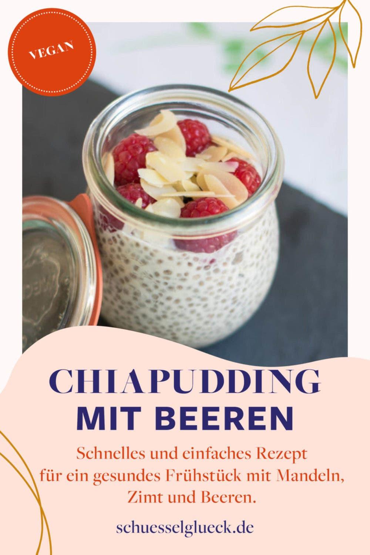 Mandel-Zimt-Chiapudding mit Beeren