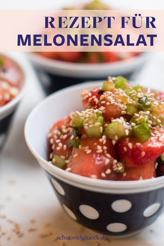 Asiatischer Wassermelonensalat mit Stangensellerie und Sesam