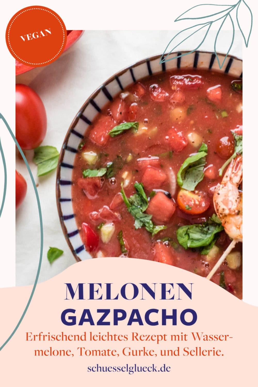 Wassermelonen Gazpacho – so schmeckt der Sommer!