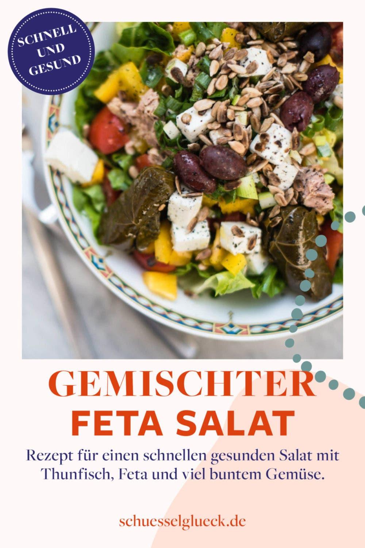Gemischter Salat mit Thunfisch und Feta