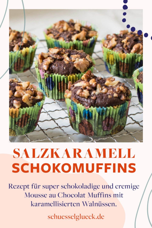 Superschokoladige Schokomuffins - Mousse au chocolat im Muffinkostüm