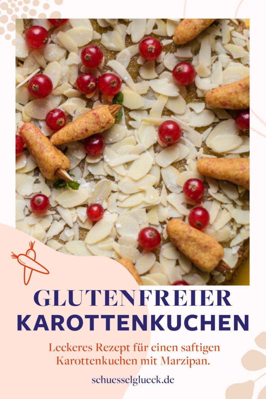 Supersaftiger glutenfreier Karottenkuchen mit Marzipanmöhrchen
