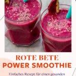Rote Bete Power Smoothie im Glas