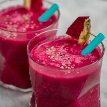 Rote Bete Power Smoothie im Glas