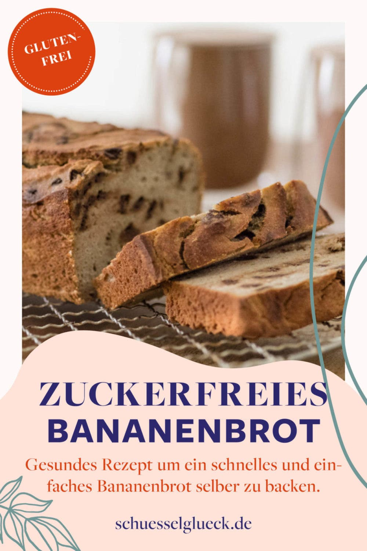 Glutenfreies Bananenbrot mit Kokos & Schokostückchen