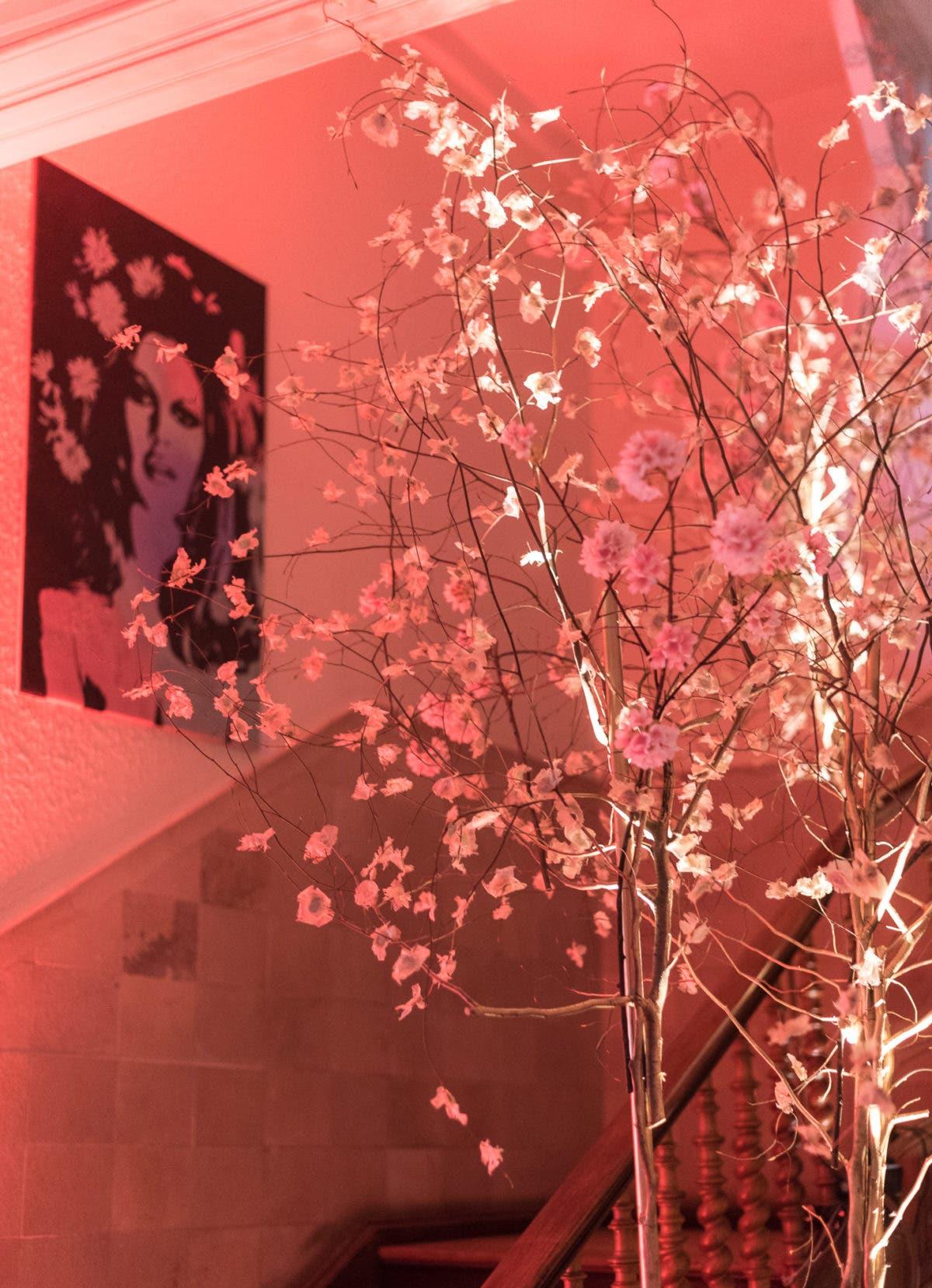 Villa Ratatouille - Pop-Up Restaurant in Frankfurt: Treppe mit Kirschblüten