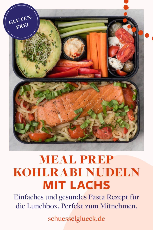 Lunchbox Tutorial: Lachs mit Kohlrabipasta