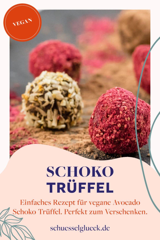 Rohvegane Avocado-Schoko-Trüffel mit Orange – ganz einfach & raffiniert!