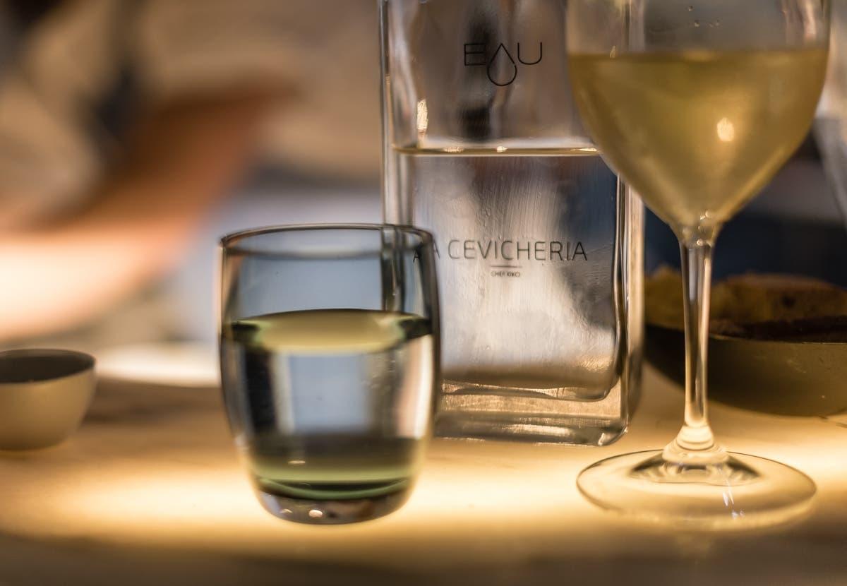 Nahaufnahme von Cevicheria im Glas
