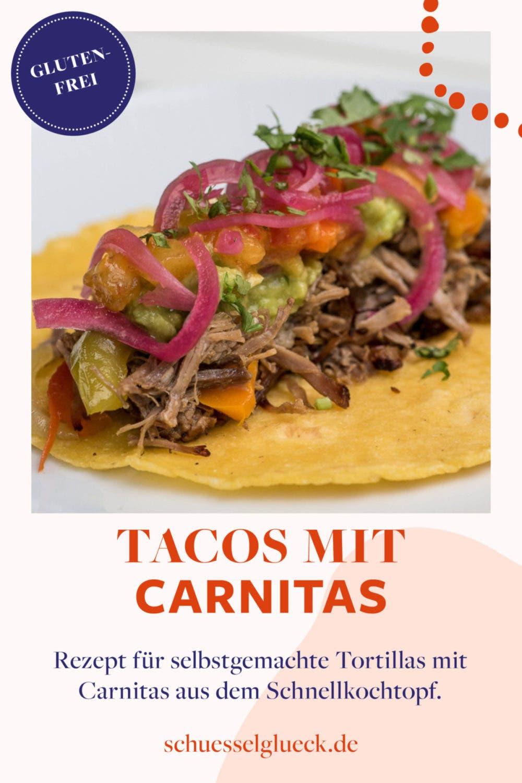 Mexiko kulinarisch: Tacos mit Carnitas aus dem Schnellkochtopf