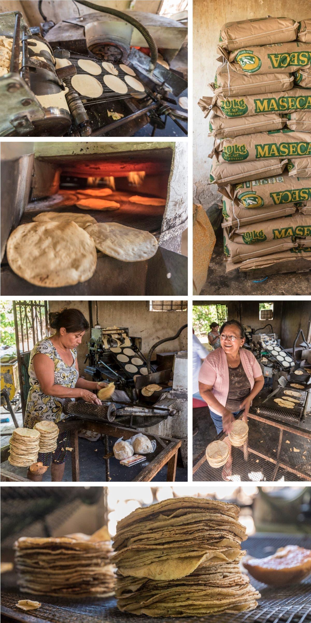 Herstellung von Tacos in Mexiko.