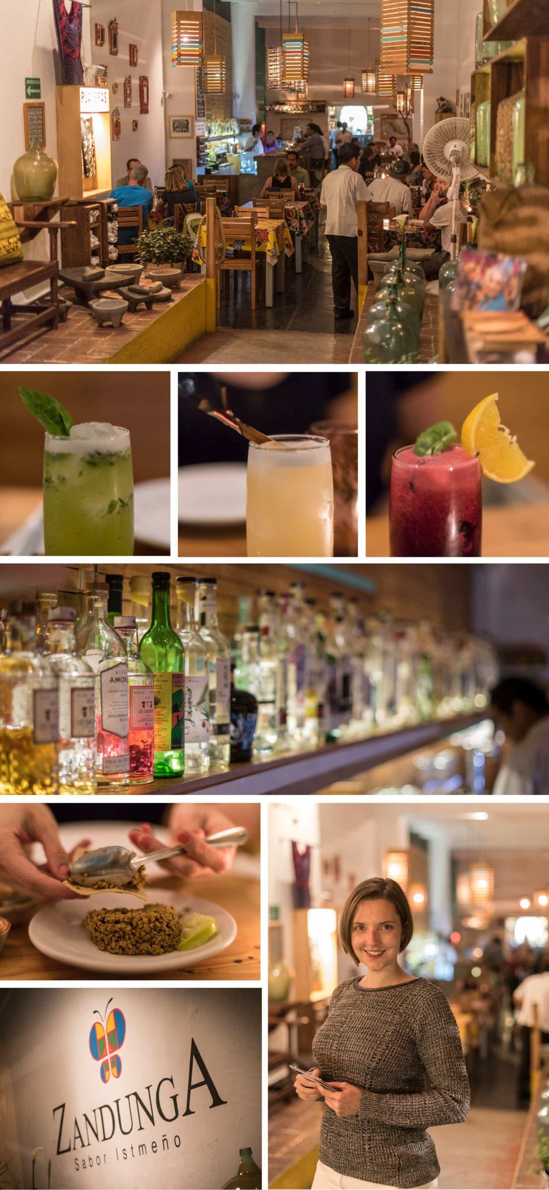 Collage aus Fotos der mexikanischen Bar Zandunga