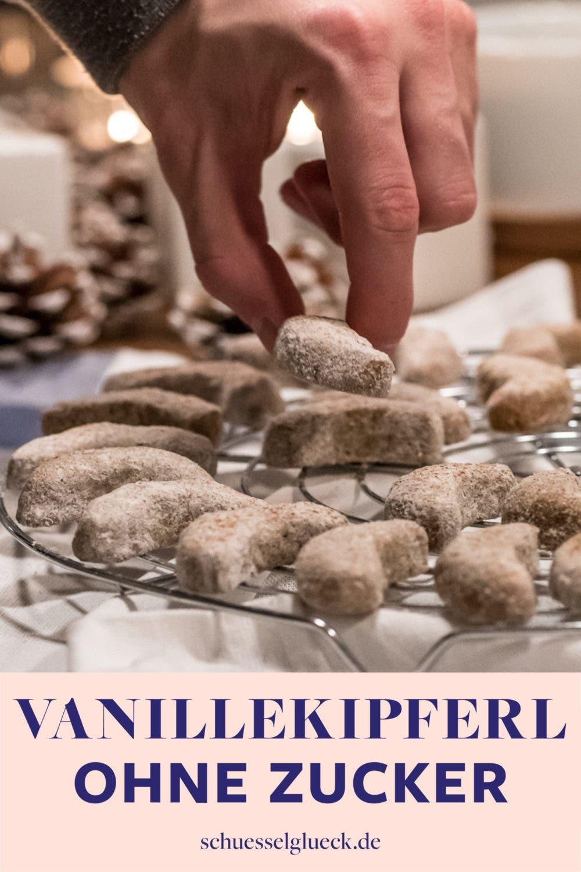 Herrlich mürbe, glutenfreie Vanillekipferl (ohne Zucker)