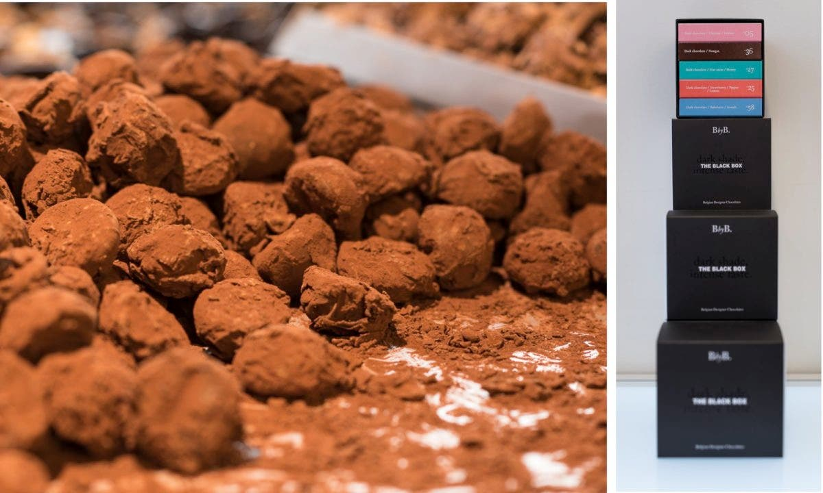 belgische Schokoladentrüffel