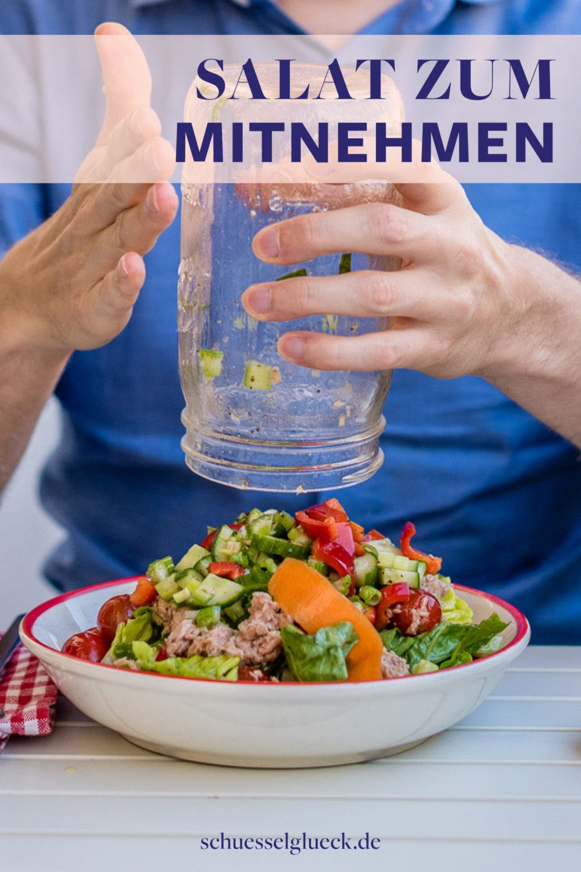 Salat im Glas Baukasten – Sommerliches Lunch Glück zum mitnehmen