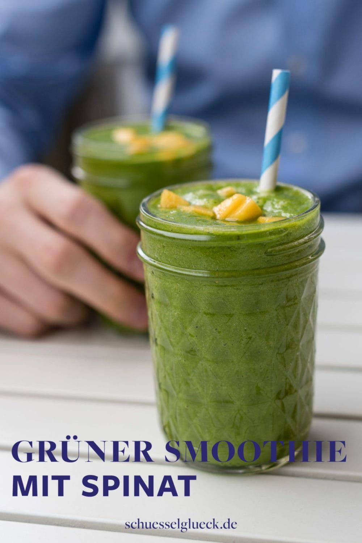 Herrlich erfrischender grüner Smoothie mit Spinat, Mango und einer Geheimzutat