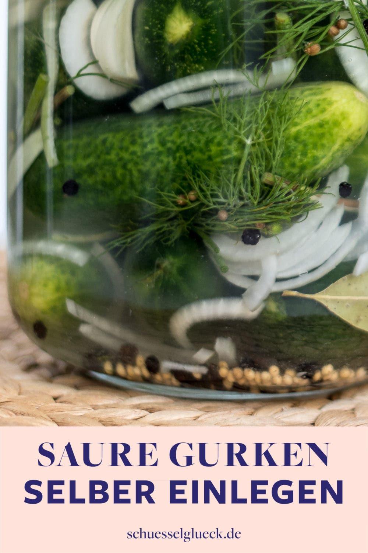 Die knackigsten, schnell fermentierten Dill Gürkchen ever - Saure Gurken selbst einmachen