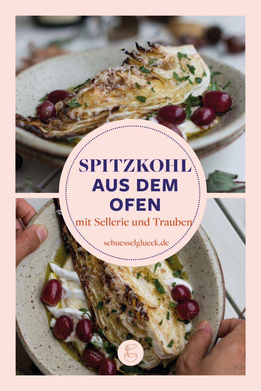 Geschmorter Spitzkohl auf Selleriepüree mit rheinhessischem Twist