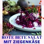 Rote Bete Salat auf weißem Teller