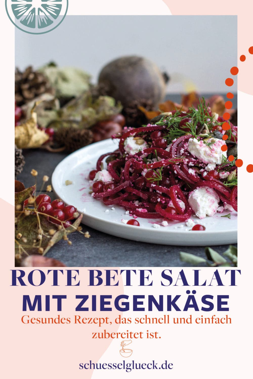 Rote Bete Salat mit gerösteten Kernen, Johannisbeeren und Ziegenkäse