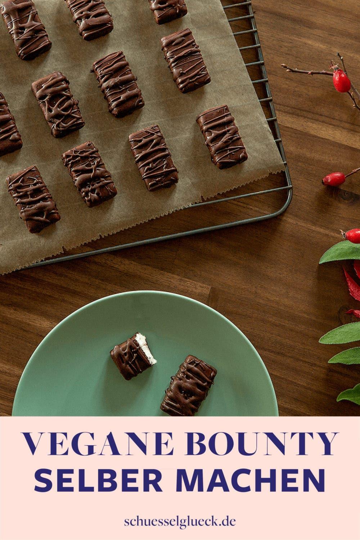 Die leckersten selbstgemachten, veganen Bounty Schokoriegel ever - mit Schritt für Schritt Anleitung!