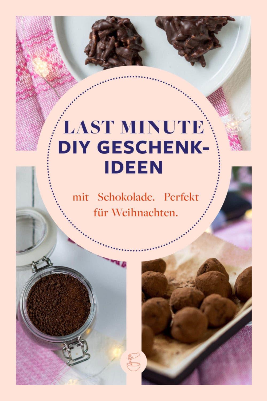 Last Minute DIY Geschenkideen aus Schokolade – superschnell & einfach gemacht!