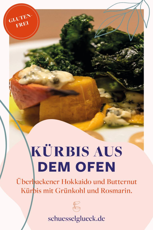 Zweierlei geschmorter Kürbis mit Grünkohl und Blauschimmelkäse – mein Hauptgang beim Freitagsküche Event!
