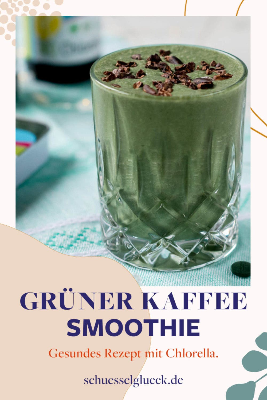 Grüner Kaffee Shake mit Chlorella & Spirulina + alles was Du über das Superfood aus dem Wasser wissen musst