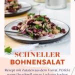 Bohnensalat mit Thunfisch auf Teller