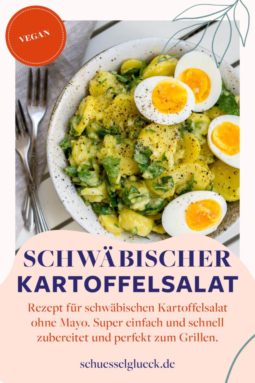 Lauwarmer schwäbischer Kartoffelsalat ohne Mayo – und ein Blick in meinen Balkongarten!