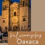 mexikanische Kirche in Oaxaca bei Nacht