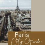 Blick über die Dächer Paris mit Eiffel Turm am Horizont