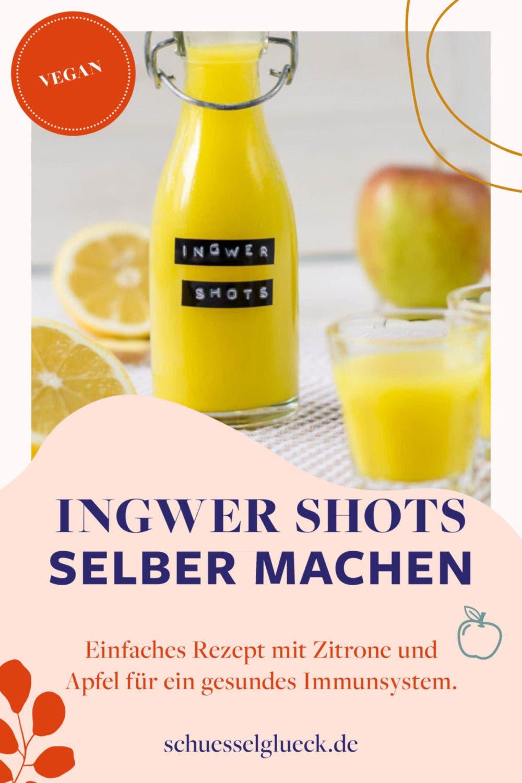 Ingwer Shots selber machen – knallgelber Immunbooster gegen Erkältung & Co.