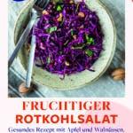 Topshot von fruchtigem Rotkohlsalat