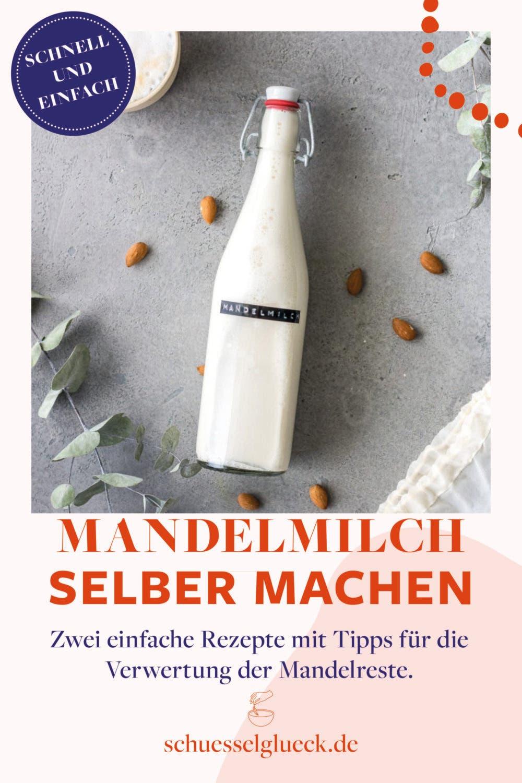 Wie Du Mandelmilch aus drei Zutaten selber machst – plus Tipps für die Verwertung der Mandelreste