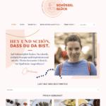 Screenshot von der Schüsselglück-Seite im neuen Design