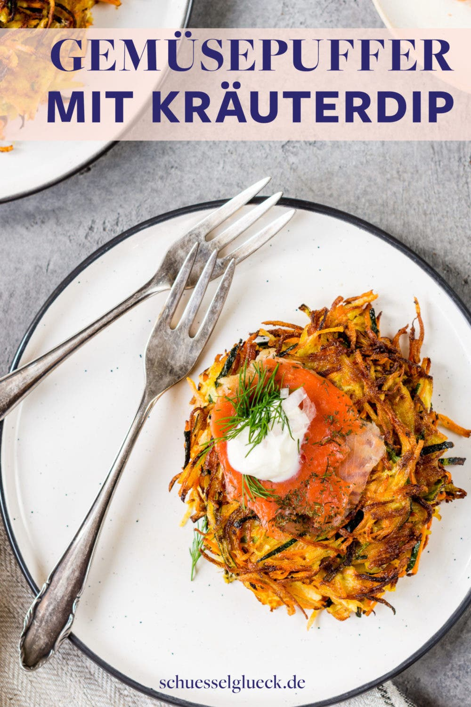 Knusprige Gemüsepuffer mit Zucchini und Möhren