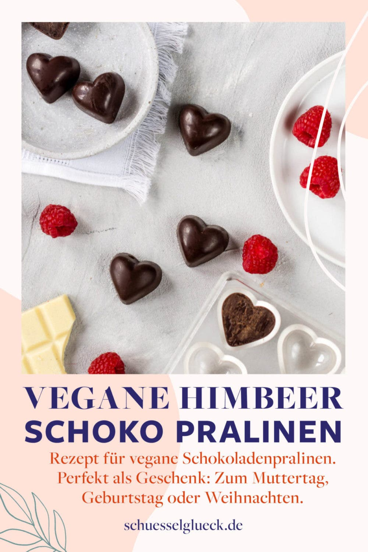 Vegane Himbeer-Schoko-Pralinen – perfektes Geschenk zum Muttertag!