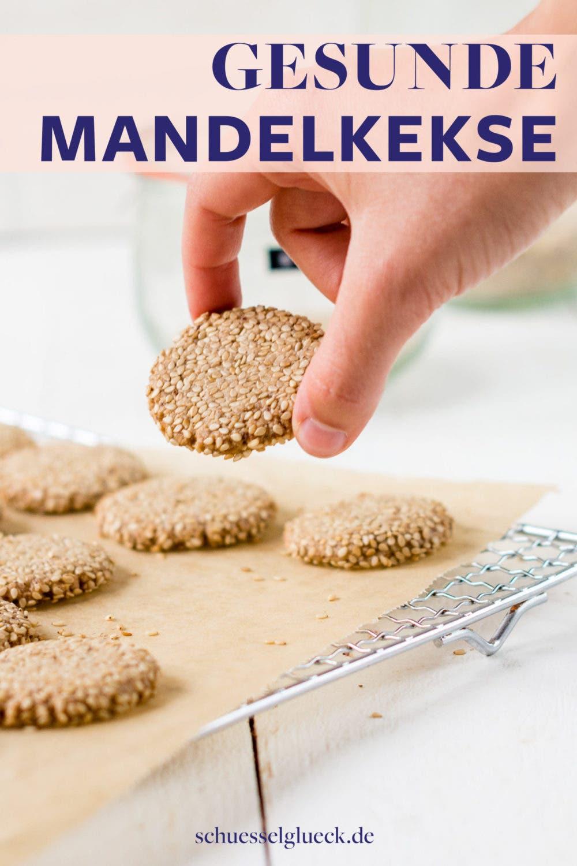 Vegane Mandel-Tahini-Kekse aus nur vier Zutaten