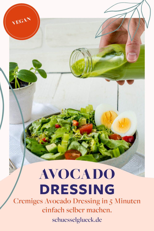 Herrlich cremiges Avocado Dressing mit frischen Kräutern – macht jeden Salat zum Lieblingssalat!