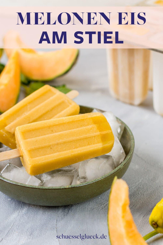 Erfrischende Melonen Popsicles mit Minze – gesundes Eis am Stiel blitzschnell selber machen!