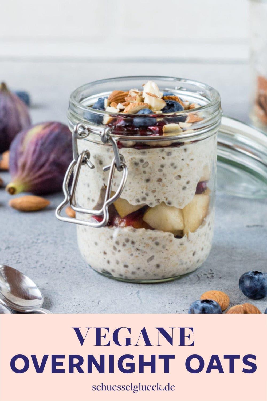 Vegane Overnight Oats zum Verlieben – mit Abwandlungstipps!
