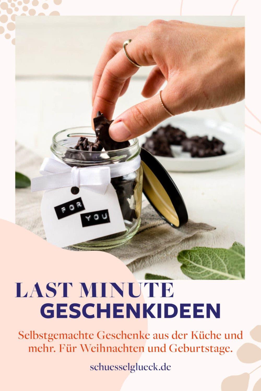 Last Minute Geschenkideen: Selbstgemachte Geschenke aus der Küche