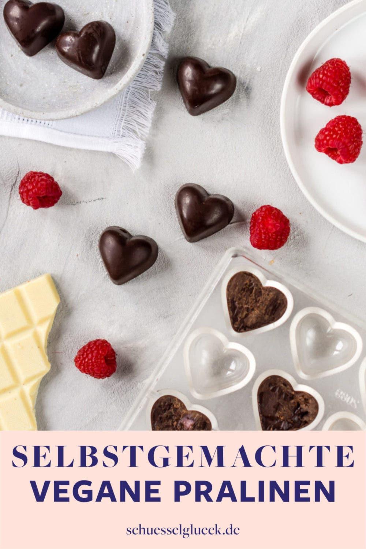 Vegane Himbeer-Schoko-Pralinen – perfektes Geschenk zum Valentinstag!