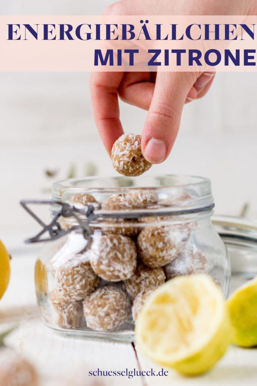 Zitronige Bliss Balls: vegane Energiebällchen mit Kokos