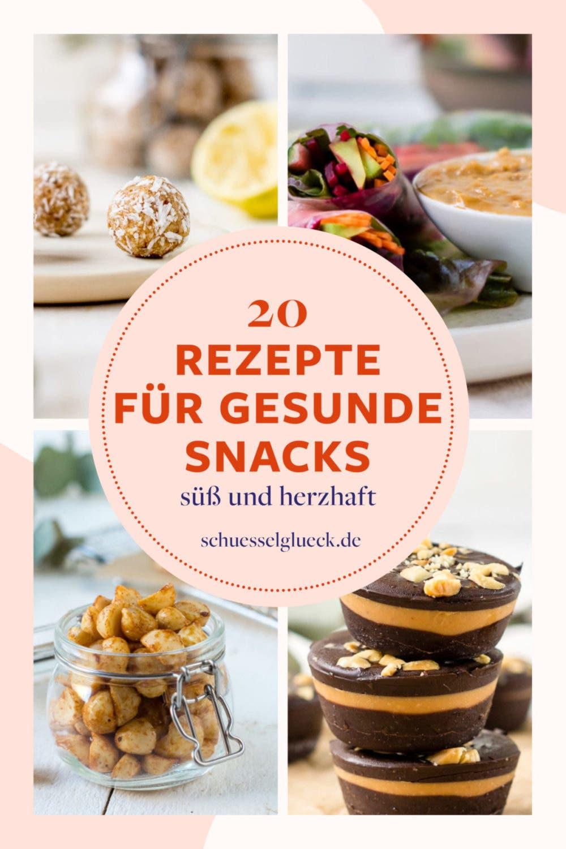 20 Rezepte für gesunde Snacks, die Du nicht verpassen solltest