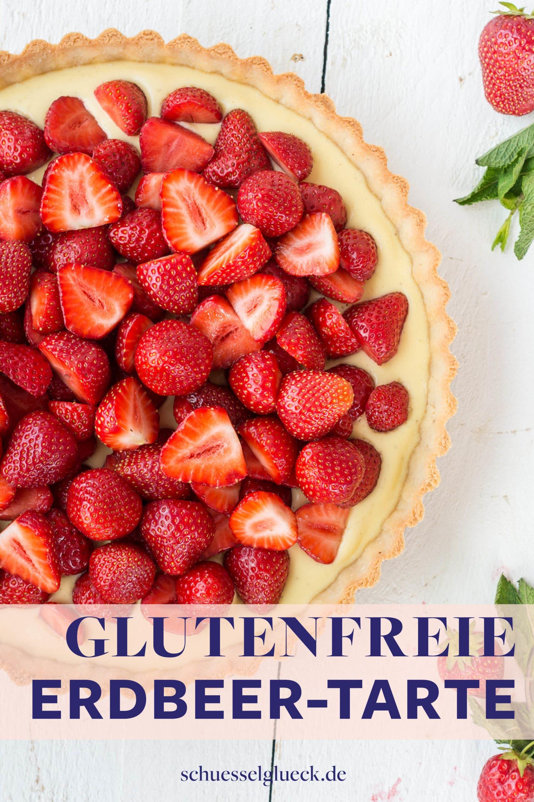 Einfache, glutenfreie Frühsommer Tarte mit Erdbeeren und Mascarpone